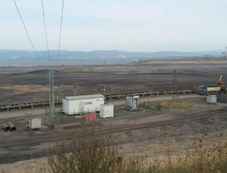 Zpevněná plocha – povrchový důl Tušimice, Chomutov